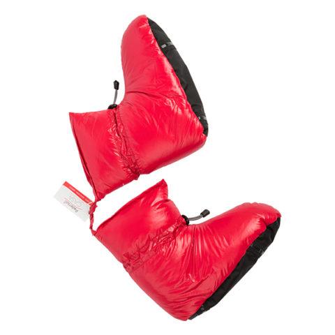 pantofole rosse piumino